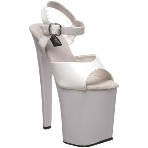 Sandales Techno blanches vernies