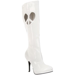Bottes blanches vernies