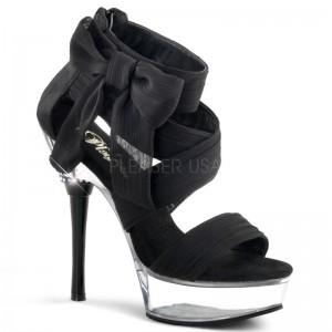Sandales noires en satin ALLURE-664