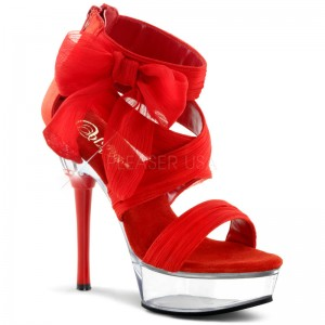 Sandales rouges en satin ALLURE-664