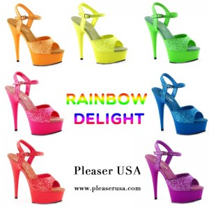 chaussures fluo Pleaser