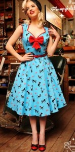 Robe Pinup, top mode en bleu