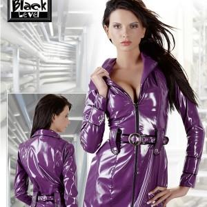 impermeable-court-en-vinyle-violet-et-noir