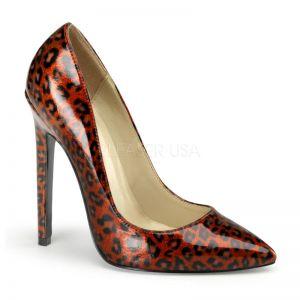 Escarpins léopard rouge talon aiguille