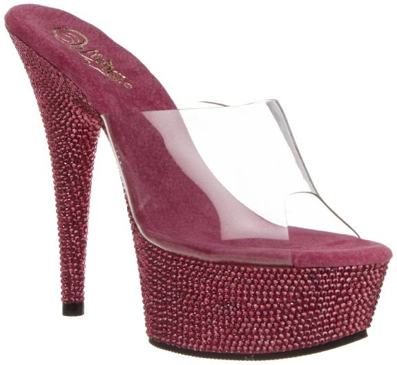 Chaussures mules haute couture Pleaser