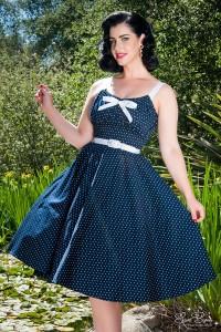 robe-polka-bleue
