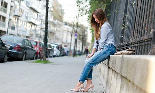 Porter des escarpins avec un Jeans