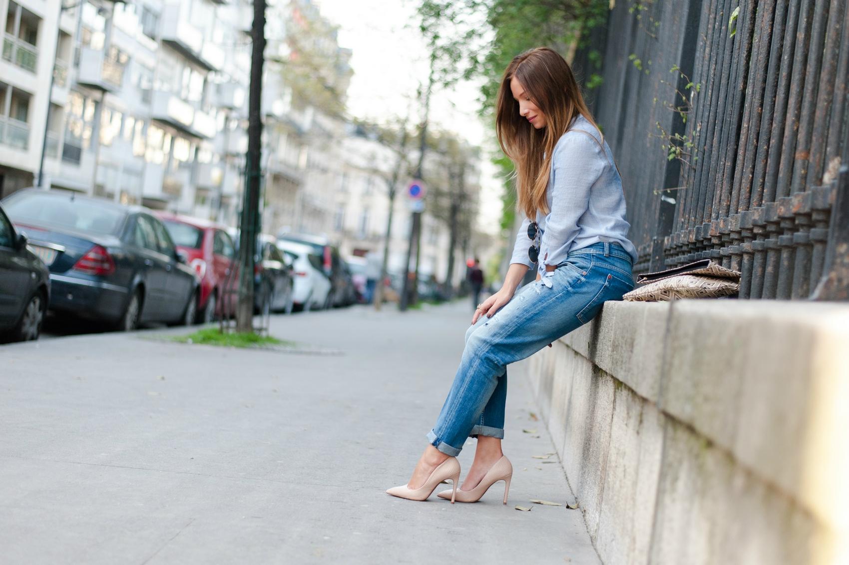 Escarpins et jeans la classe